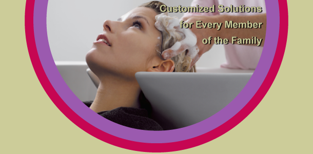 Customized Solutions for Every Member of the Family - woman having her hair shampooed