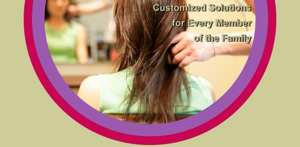 Customized solutions for every member of the family - woman having her hair blown dry